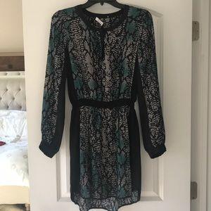 Parker Long Sleeve Silk Dress S
